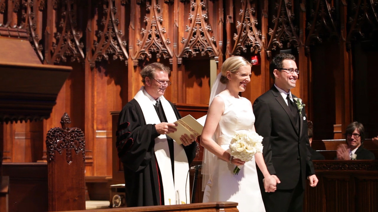 Bride and Groom Announced at Heinz Chapel